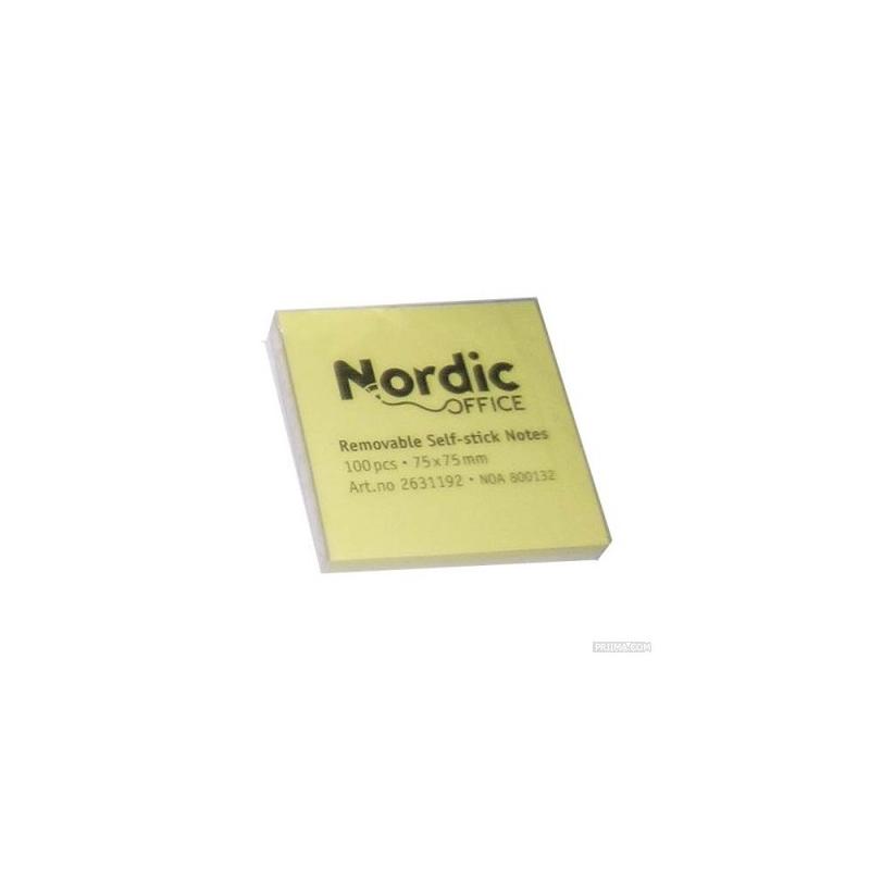 NORDIC OFFICE viestilappu 75x75mm keltainen