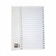 NORDIC OFFICE välilehti 1-20 muovi A4 valkoinen
