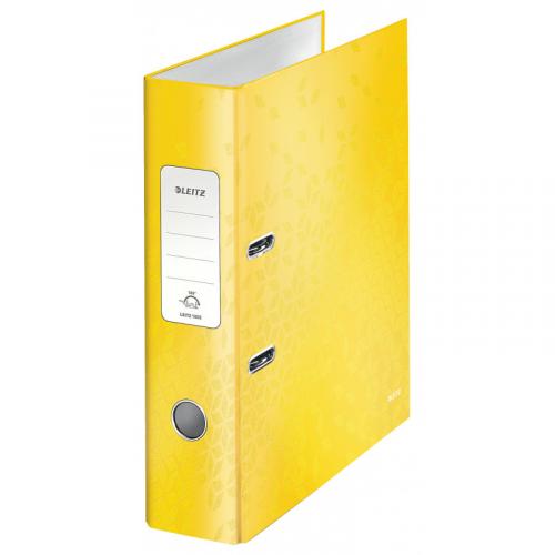 LEITZ Wow kartonkimappi A4/80mm keltainen