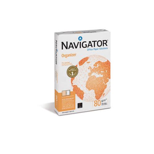 NAVIGATOR Organizer A4 80g kopiopaperi 8-8-8 reiät