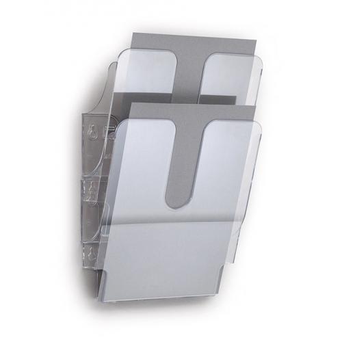 DURABLE FlexiPlus seinäteline A4 1-osainen pysty kirkas