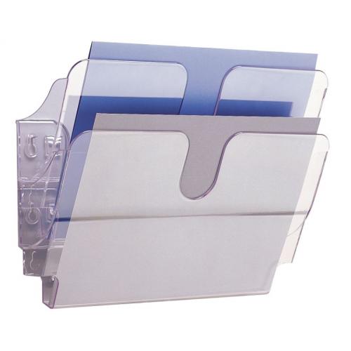 DURABLE FlexiPlus seinäteline vaaka A4 kirkas 1-os (2kpl/pkt)