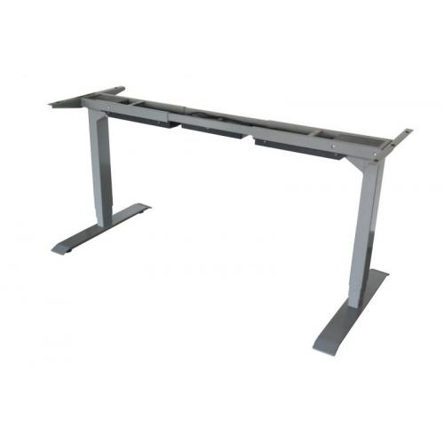 TC Easy Duo sähkösäätöinen pöydänrunko harmaa, kahdella jalalla