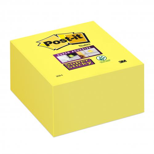 Post-it 2028-S Super Sticky viestilappukuutio keltainen 76x76mm 350lappua