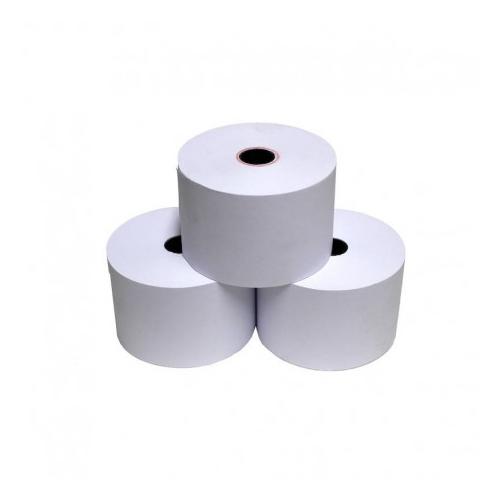 Kassakuittirulla 76x70x12 mm/2-os valkoinen/kelt.(50)