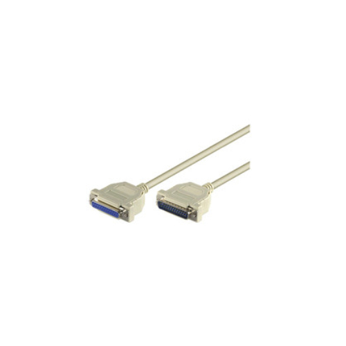 MicroConnect 3m D-SUB IEEE 1284 (25-pin) M-F seriell serial 1 1, round cable