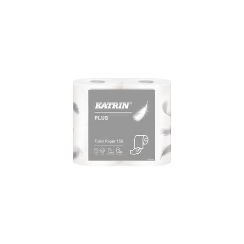 KATRIN Plus Toilet 150 3-krs valkoinen 40rll/säk