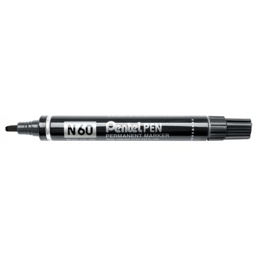 Pentel N60 musta huopakynä viisto 3,9-5,5mm