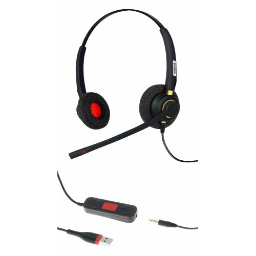 Insmat Kevo 320 Binaural kuuloke/mikrofoni USB / 3,5mm plug