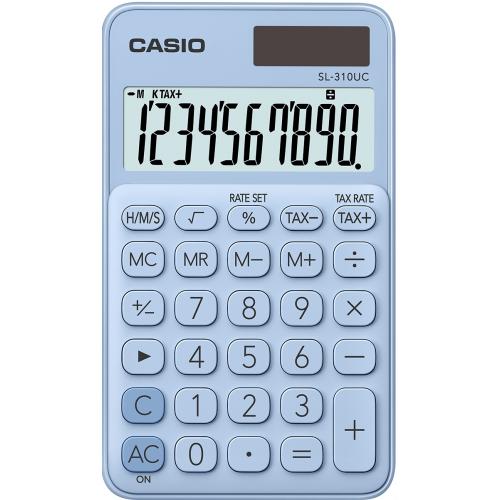 CASIO SL-310UC-LB taskulaskin 10-numeroinen vaalean sininen