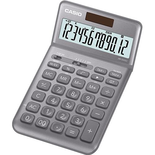 CASIO JW-200SC-GY design pöytälaskin 12-numeroinen harmaa
