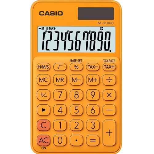 CASIO SL-310UC-RG taskulaskin 10-numeroinen oranssi