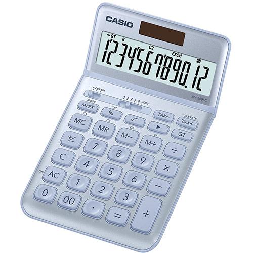 CASIO JW-200SC-BU design pöytälaskin 12-numeroinen vaaleansininen