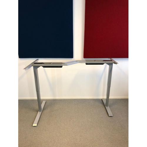 TC Easy Duo kulma sähkösäätöinen pöydänrunko harmaa, kaksi jalkaa