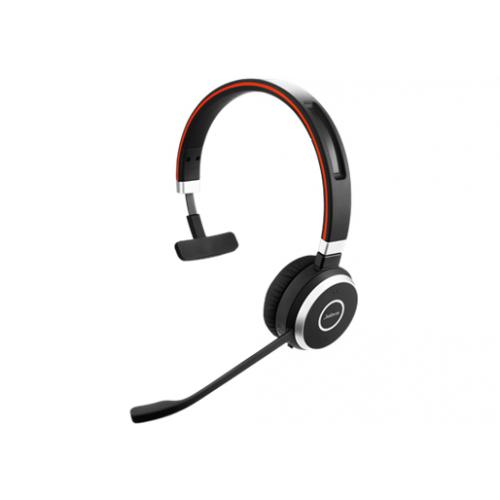Jabra Evolve 65 MS mono -kuuloke + mikrofoni, korvien päällä, langaton, Bluetooth + sekä Jabra LINK