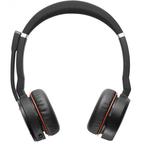 Jabra Evolve 75 MS Stereo - Kuuloke + mikrofoni- korvien päällä - Bluetooth - langaton - aktiivinen