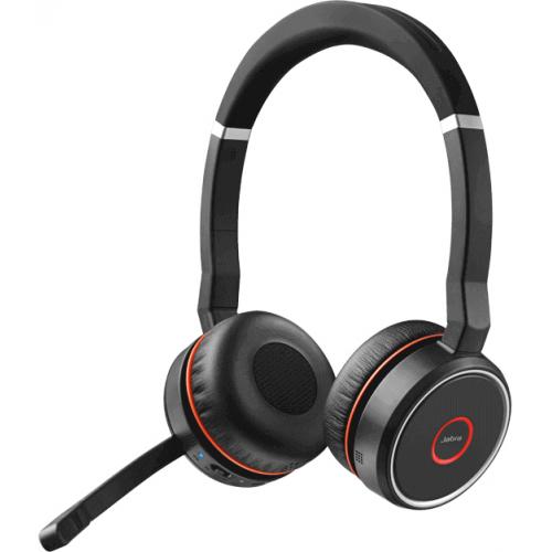 Jabra Evolve 75 MS Stereo - Kuuloke + mikrofoni+ latausteline - korvien päällä - Bluetooth - langato
