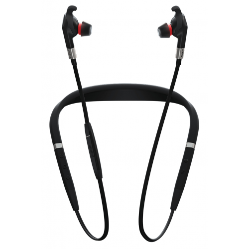 Jabra Evolve 75e MS Earphones with mic korviin, kiinnitys niskan taakse, Bluetooth langaton aktiivin