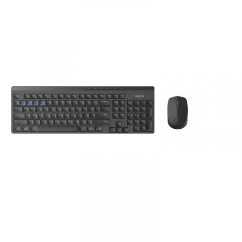 Rapoo 8100M Office monitilanäppäimistö ja hiiri (Dongle BT) - musta
