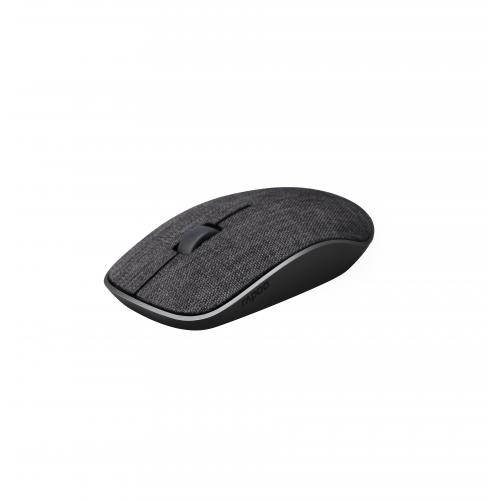 RAPOO 3510Plus Fabric 2,4 GHz, langaton optinen hiiri, musta