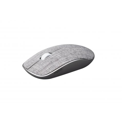 RAPOO 3510Plus Fabric 2,4 GHz, langaton optinen hiiri, harmaa