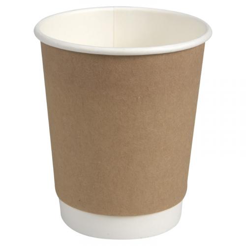 GASTRO-LINE Kraft kahvikuppi 24/28cl tuplaseinä ruskea