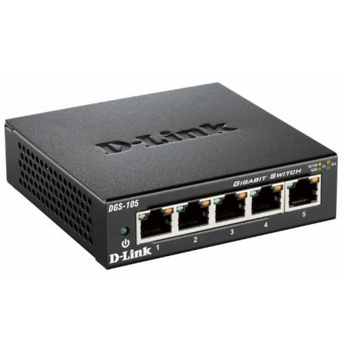 D-Link Gigabit Ethernet kytkin, 5x10 100 1000Mbps