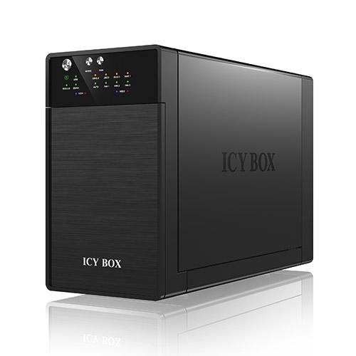 ICY BOX ulkoinen RAID-kotelo 2x3,5″ SATA-kiintolevyille, SATA 6Gbit s, USB 3.0 eSATA, RAID 0 1 JBOD