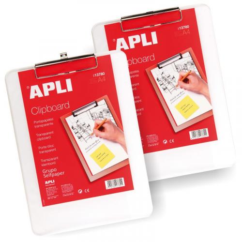 APLI keräilyalusta/käsinkirjoitusalusta kirkas