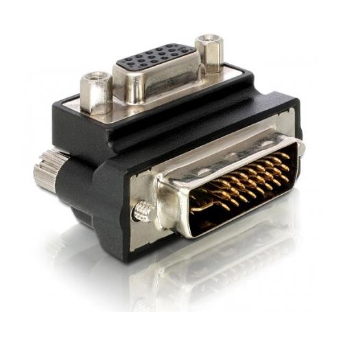 DELOCK DVI-ADAPTERI, DVI-A - VGA(HD15), 65172