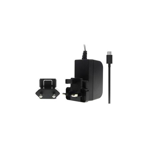 Raspberry Pi Accessory, Raspberry Pi 4 Model B PSU, USB-C, 5.1V, 3A, UK/EU Plugs, Black