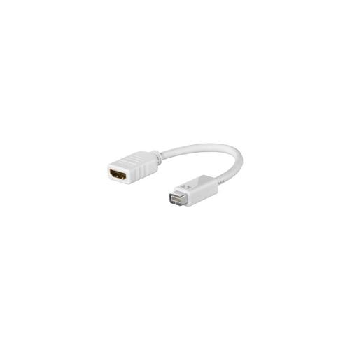 Mini-DVI - HDMI sovitin, 32-pin uros - 19-pin naaras, valkoinen