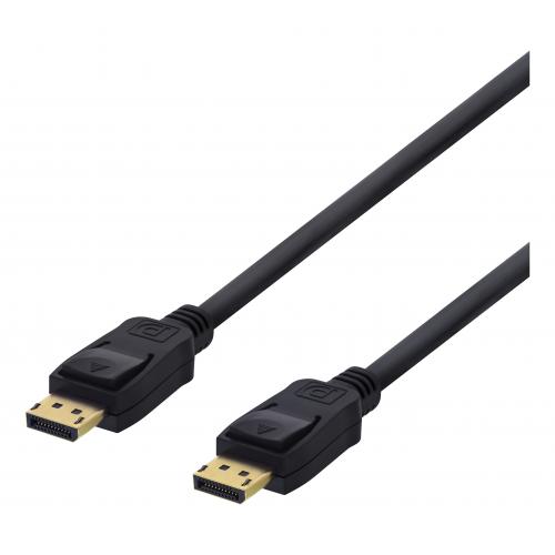 DisplayPort-kaapeli, 1 m, 4K UHD, DP 1.2, musta