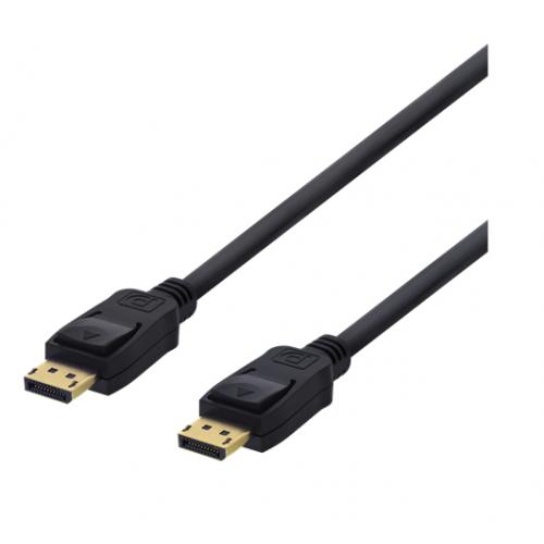 DisplayPort-kaapeli, 2 m, 4K UHD, DP 1.2, musta