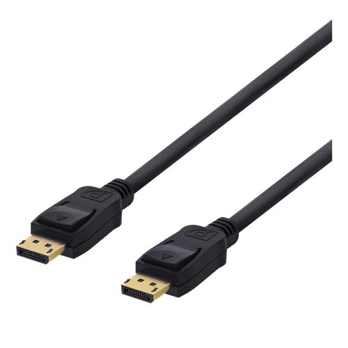 DisplayPort-kaapeli, 5 m, 4K UHD, DP 1.2, musta
