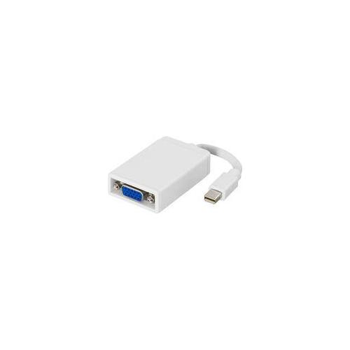 mini DisplayPort - VGA, 20-pin(u)-15-pin(n), 0,2m, valkoinen/harmaa