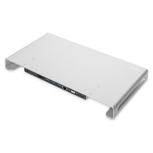 Digitus USB-C™ 11-in-1 Docking Station with Aluminium Monitor Stand