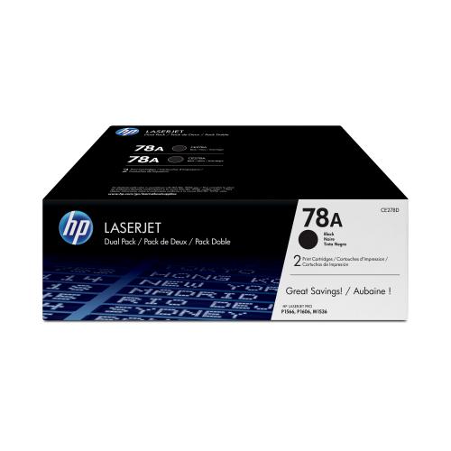 HP 2x Toner CE278A black HV LaserJet Pro P1566 P1606 M1536