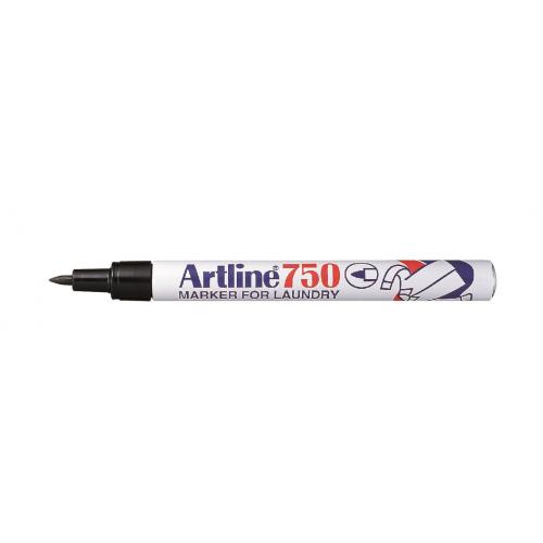 Artline 750 musta tekstiilin merkkauskynä (12 kpl/ltk)