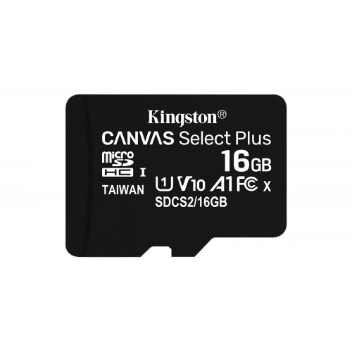 KINGSTON 16GB micSDHC Canvas Select Plus 100R A1 C10 Card + ADP