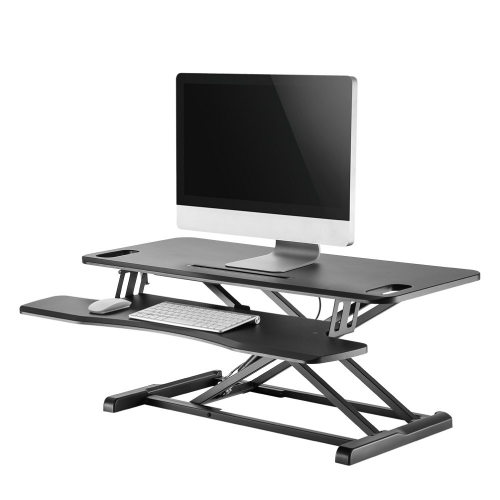 NEWSTAR Workstation - stand-sit workplace solution (height adjustment: 13-50 cm)