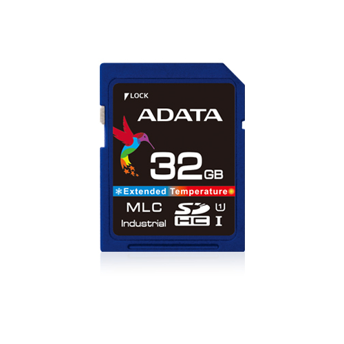 ADATA IDC3B MLC SD Card 32GB Wide Temp