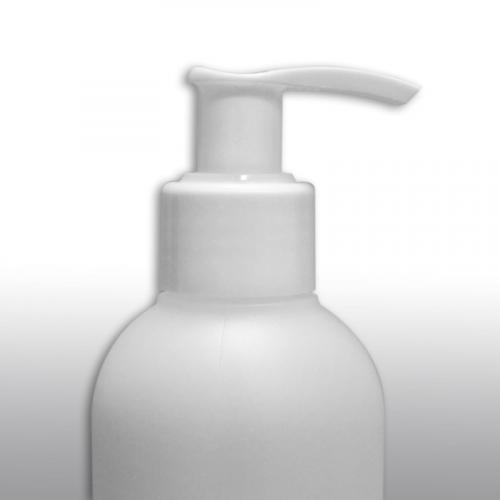 Muovipumppupullo 250ml HDPE valkoinen