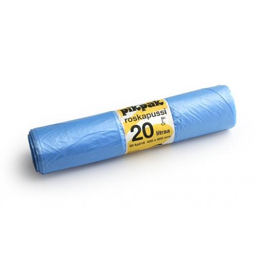 PIKPAK HD-roskapussi 20L 50kpl/rll sininen
