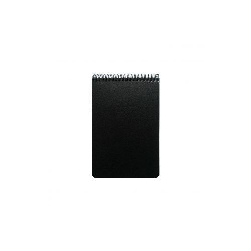 Taskulehtiö A6/50 muovikansi musta