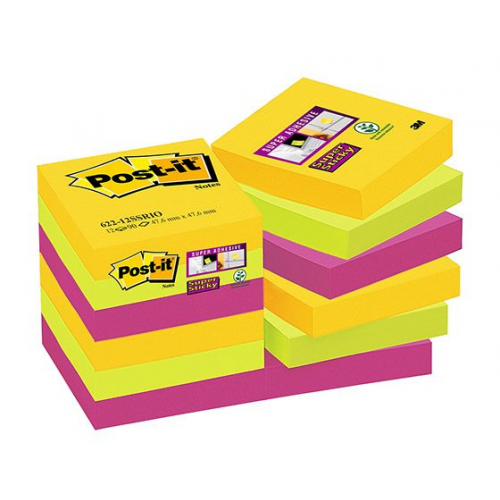 POST-IT 622 Super Sticky Rio viestilappu 12nid/pkt