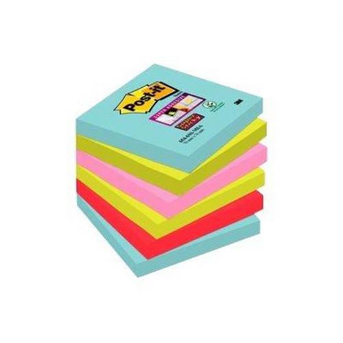 POST-IT 654 Super Sticky Miami viestilappu 6nid/pkt