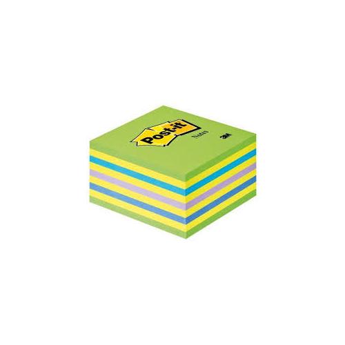 POST-IT 2028-NB viestilappukuutio neonsininen/-vihreä