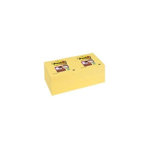 POST-IT 654 Super Sticky Canary keltainen viestilappu 76x76 12nid/pk