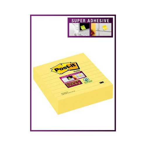POST-IT 675 Super Sticky Meeting Notes viivat keltainen 101x101mm